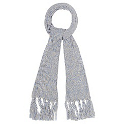 Red Herring - Pale blue space dye scarf