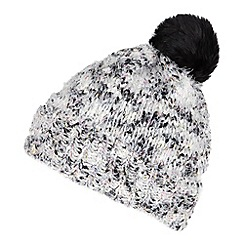 Red Herring - Black eyelash knitted bobble hat
