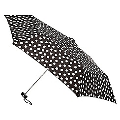 Isotoner - Mini flat 3 section painted dots umbrella