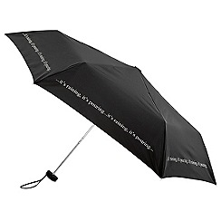 Isotoner - Mini flat 3 section 'It's Raining' umbrella