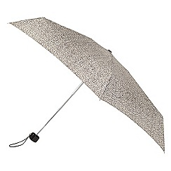 Isotoner - Mini thin 5 section striped umbrella