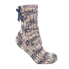 Totes - Twisted yarn sock in blue