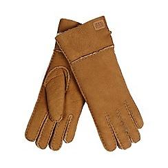 Just Sheepskin - Dark tan sheepskin gloves