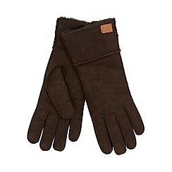 Just Sheepskin - Brown sheepskin gloves