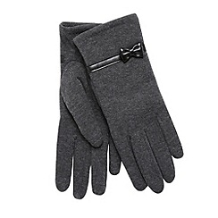 Isotoner - Grey thermal bow trim gloves