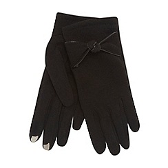 Isotoner - Black thermal knot bow gloves