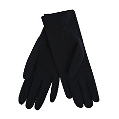 Isotoner - Navy quilted stitched thermal gloves