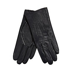 Isotoner - Navy leather gloves