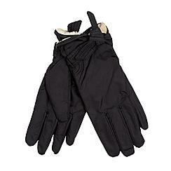 Isotoner - Black faux fur trim glovers