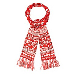 Floozie by Frost French - Red heart fairisle scarf