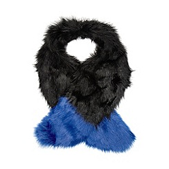 Floozie by Frost French - Bright blue tipped faux fur stole