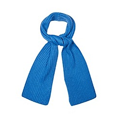 Faith - Bright blue ribbed knit scarf
