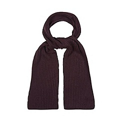 Faith - Dark purple knit scarf