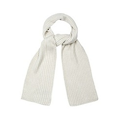 Faith - Grey ribbed knit scarf