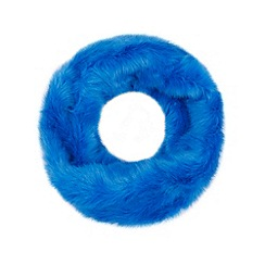 Faith - Bright blue faux fur snood