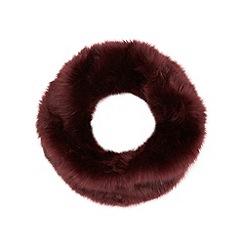 Faith - Dark purple faux fur snood