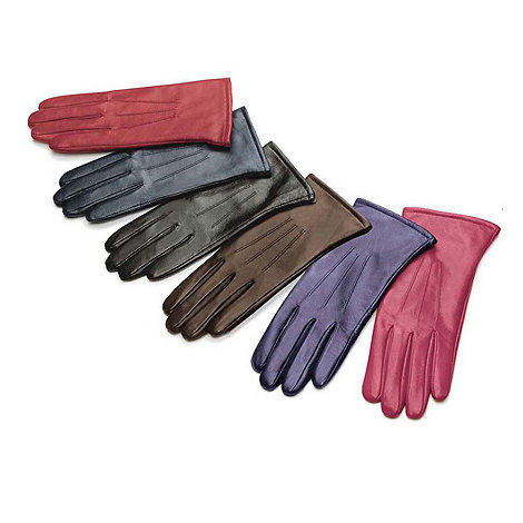 Isotoner - Red three point leather gloves - size S