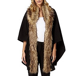 The Collection - Natural faux fur fleece wrap