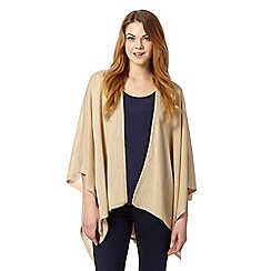 The Collection - Beige superfine knit wrap