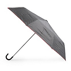 Totes - Black fine stripe umbrella