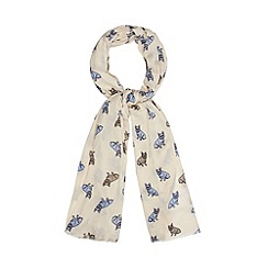 Principles by Ben de Lisi - Designer cream French bull dog print scarf