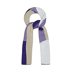 Principles by Ben de Lisi - Designer purple mixed shape print scarf
