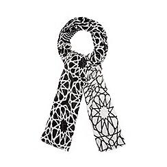 Principles by Ben de Lisi - Designer black geometric scarf