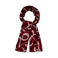 Betty Jackson.Black - Designer maroon brushstroke scarf