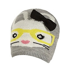 H! by Henry Holland - Designer grey bunny beanie