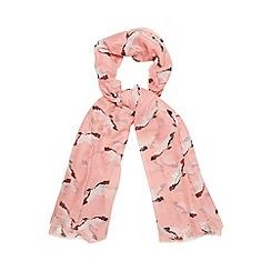 Bailey & Quinn - Dark peach seagull print scarf