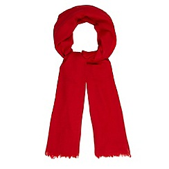 Principles by Ben de Lisi - Designer red wool chevrons scarf