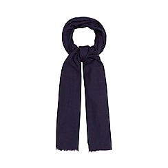 Principles by Ben de Lisi - Designer navy wool chevron scarf