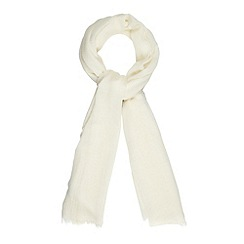 Principles by Ben de Lisi - Designer cream wool chevrons scarf
