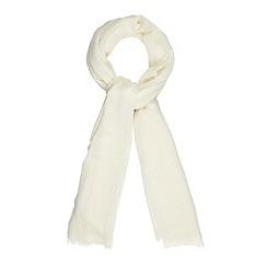 Principles by Ben de Lisi - Designer cream wool chevrons scarf