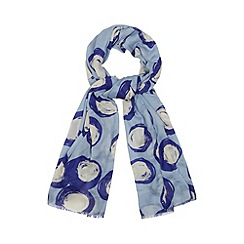 Principles by Ben de Lisi - Designer blue giant spotted scarf