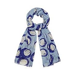 Principles by Ben de Lisi - Designer blue giant spotted scarf