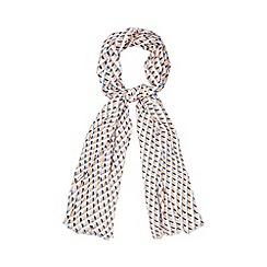 Principles by Ben de Lisi - Designer peach geometric print scarf