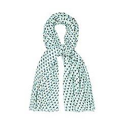 Principles by Ben de Lisi - Designer grey geometric print scarf