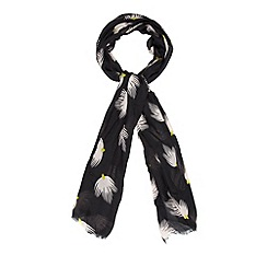 Betty Jackson.Black - Designer black deco bud print scarf