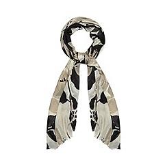Betty Jackson.Black - Designer black two tone floral scarf