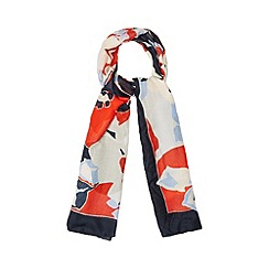 Betty Jackson.Black - Designer blue bright floral scarf