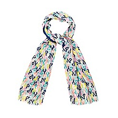 H! by Henry Holland - Designer multicoloured lobster print scarf