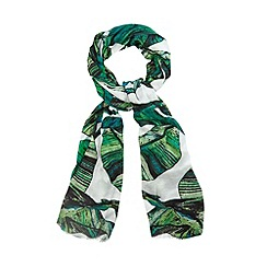 H! by Henry Holland - Designer green banana leaf print scarf
