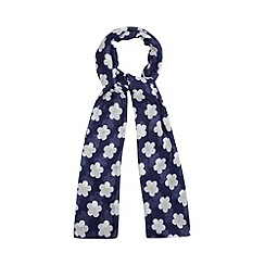 H! by Henry Holland - Designer navy daisy print scarf