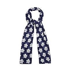 H! by Henry Holland - Designer navy daisy print scarf