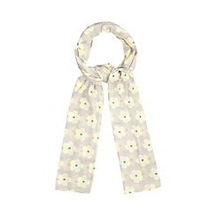 H! by Henry Holland - Designer grey daisy print scarf