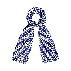 H! by Henry Holland - Designer blue whale print scarf
