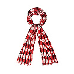 Principles by Ben de Lisi - Designer red paper cutwork scarf