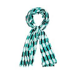 Principles by Ben de Lisi - Designer green paper cutwork scarf