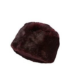J by Jasper Conran - Designer wine faux fur cossack